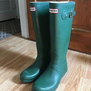 HUNTER Original Tall Rain Boots: Hunter Green